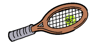 Racquet and ball